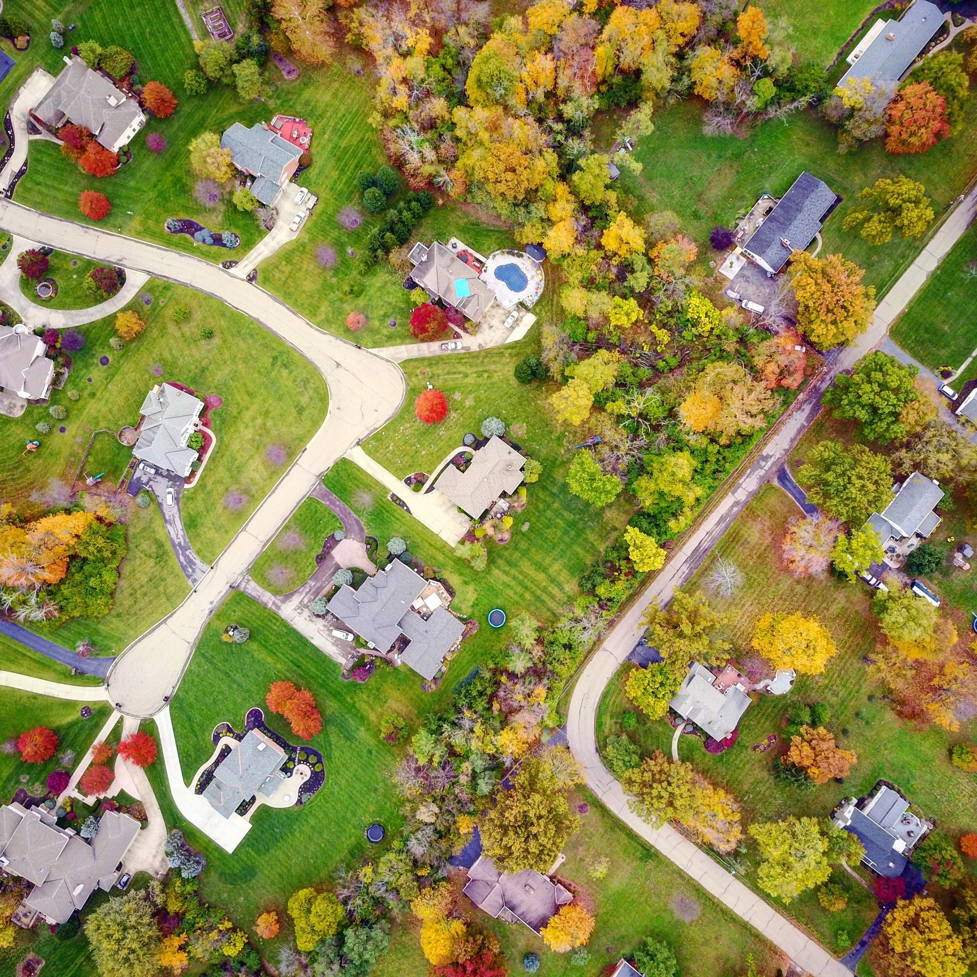 Neighborhood Aerial View Pennsylvania